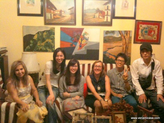 Amelia with students.JPG
