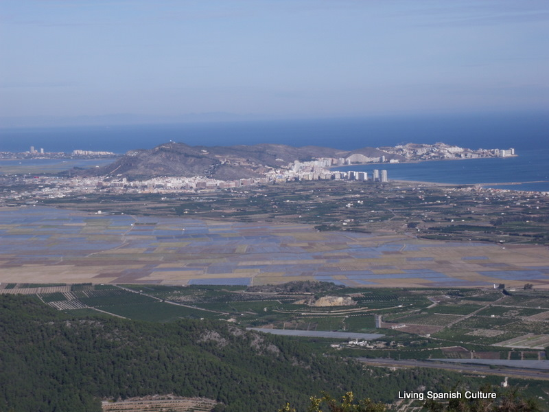La Albufera from Tavernes mountains