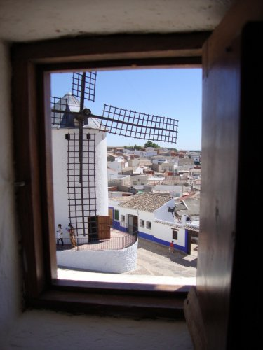 Campo de Criptana. View from a windmill