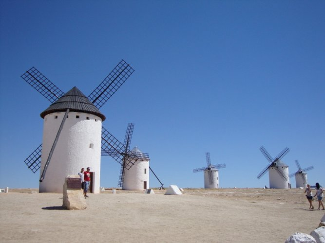 Windmills at Campo de Criptana