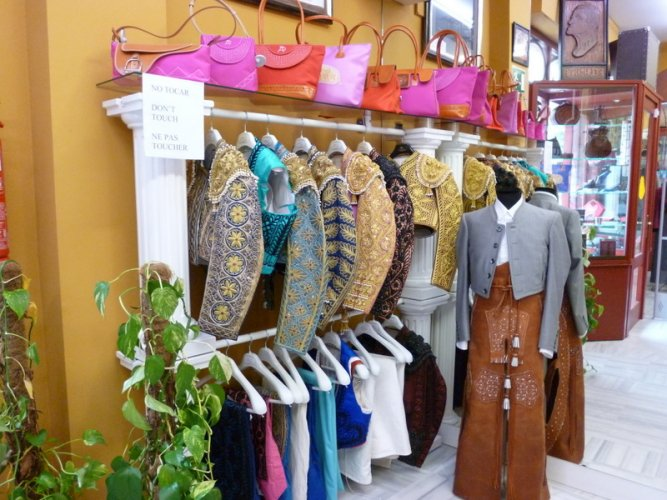 Sevilla, Bullfighter costumes Store