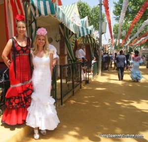 Flamencas at Sevilla April Fair