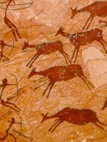 Cave paintings at the Mediterranean basin. Hunting